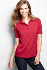 Women's Plus Size Short Sleeve Multi Textured Polo