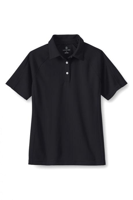 Women's Plus Size Short Sleeve Multi Textured Polo