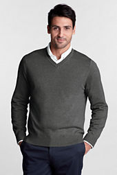 Men's Long Sleeve Performance Soft V-neck Pullover