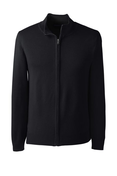 Men's Performance Fine Gauge Zip Front Cardigan Sweater