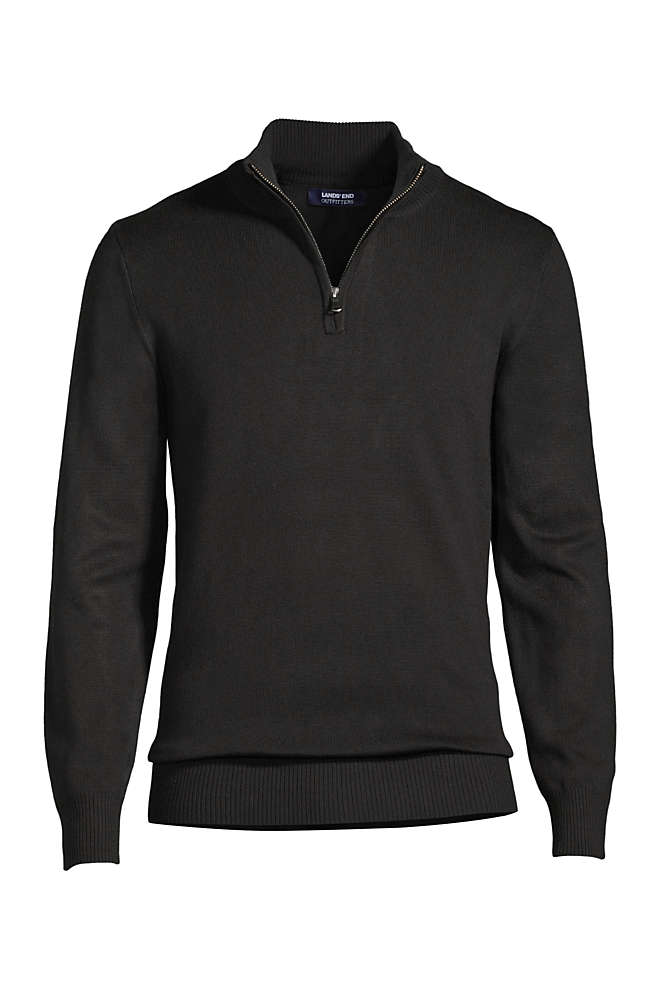 Men's Big Performance Quarter Zip Mock Sweater, Front
