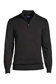 School Uniform Men's Performance Half Zip Mock Sweater