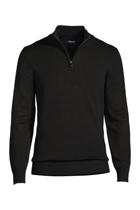 School Uniform Men's Performance Quarter Zip Mock Sweater