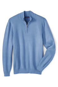 Men's Big Performance Half-zip Mock Sweater