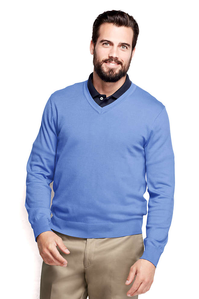 Men's Performance V-neck Sweater, Front