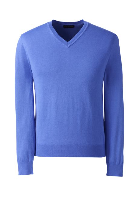Men's Performance Long Sleeve Fine Gauge V-neck Sweater