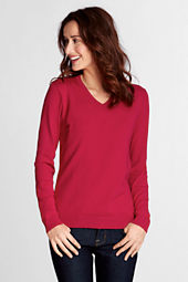 Women's Performance Long Sleeve Fine Gauge V-neck Sweater