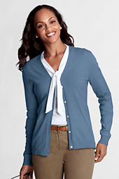 Women's Performance Long Sleeve Fine Gauge V-neck Button Front Cardigan