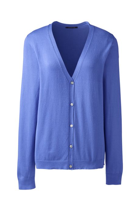 Women's Long Sleeve Performance Fine Gauge V-neck Button Front Cardigan Sweater
