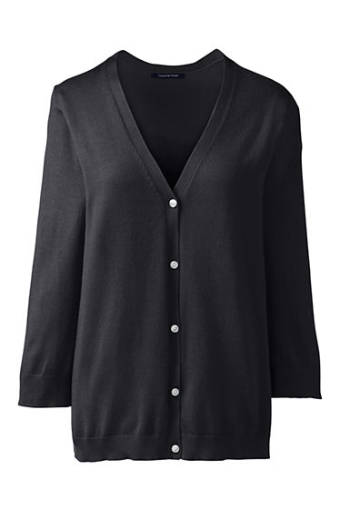 Women's 3/4 Sleeve Performance Cardigan Sweater from Lands' End