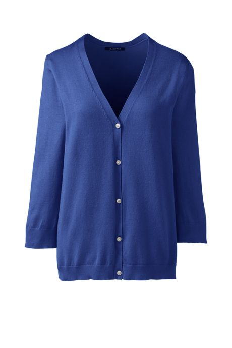 Women's 3/4 Sleeve Performance Cardigan Sweater