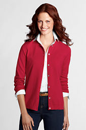 Women's Performance Fine Gauge Button Front Crew Cardigan