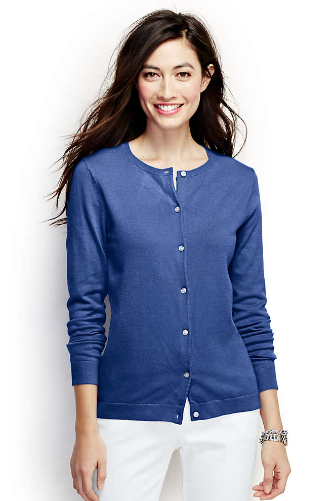 Women's Performance Crew Cardigan Sweater, Front