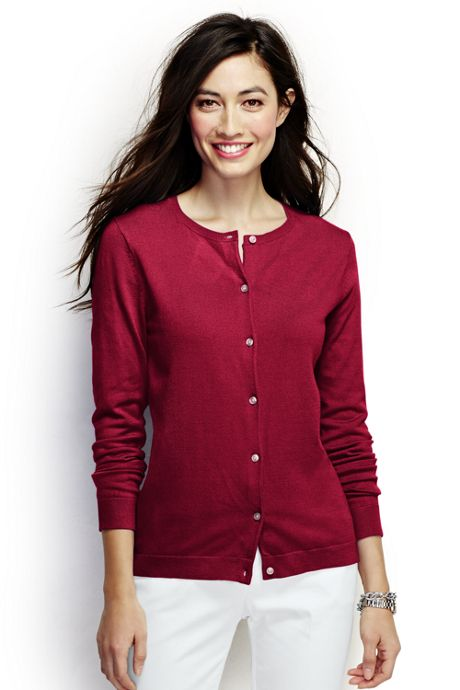 Women's Plus Size Performance Crew Cardigan Sweater