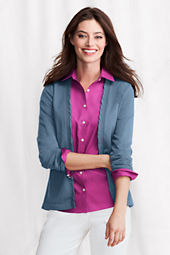 Women's Performance Long Sleeve Twist Trim Open V-neck Cardigan
