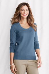 Women's Performance Long Sleeve Twist Trim Scoopneck Top
