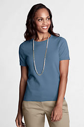 Women's Short Sleeve Performance Fine Gauge Jewelneck