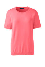 Women's Petite Short Sleeve Performance Sweater