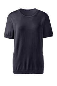 Women's Petite Short Sleeve Performance Sweater