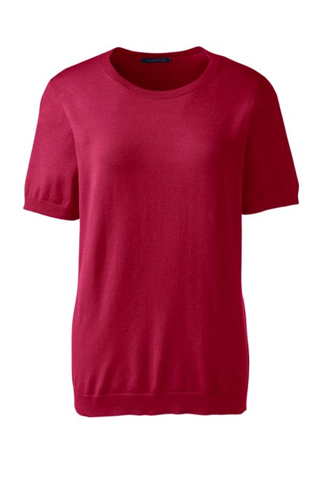 Women's Plus Size Short Sleeve Performance Sweater