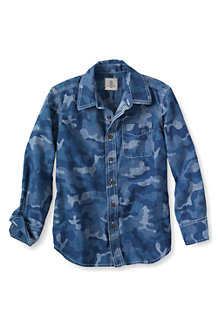 Boys' Long Sleeve Chambray Shirt