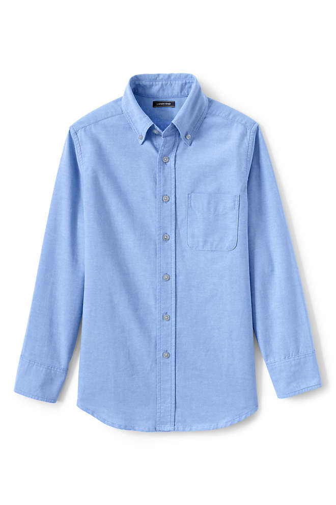 Kids Washed Oxford Shirt, Front