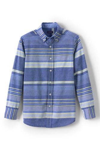Little Kids' Washed Oxford Long Sleeve Shirt