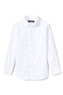 Kids' Washed Oxford Long Sleeve Shirt