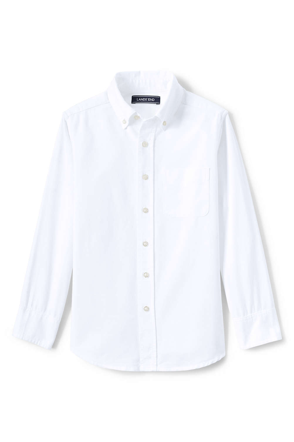 Kids Washed Oxford Shirt From Lands End