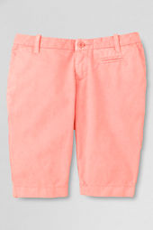 Girls' Solid Bermuda Shorts