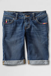 Girls' Denim Roll-up Shorts