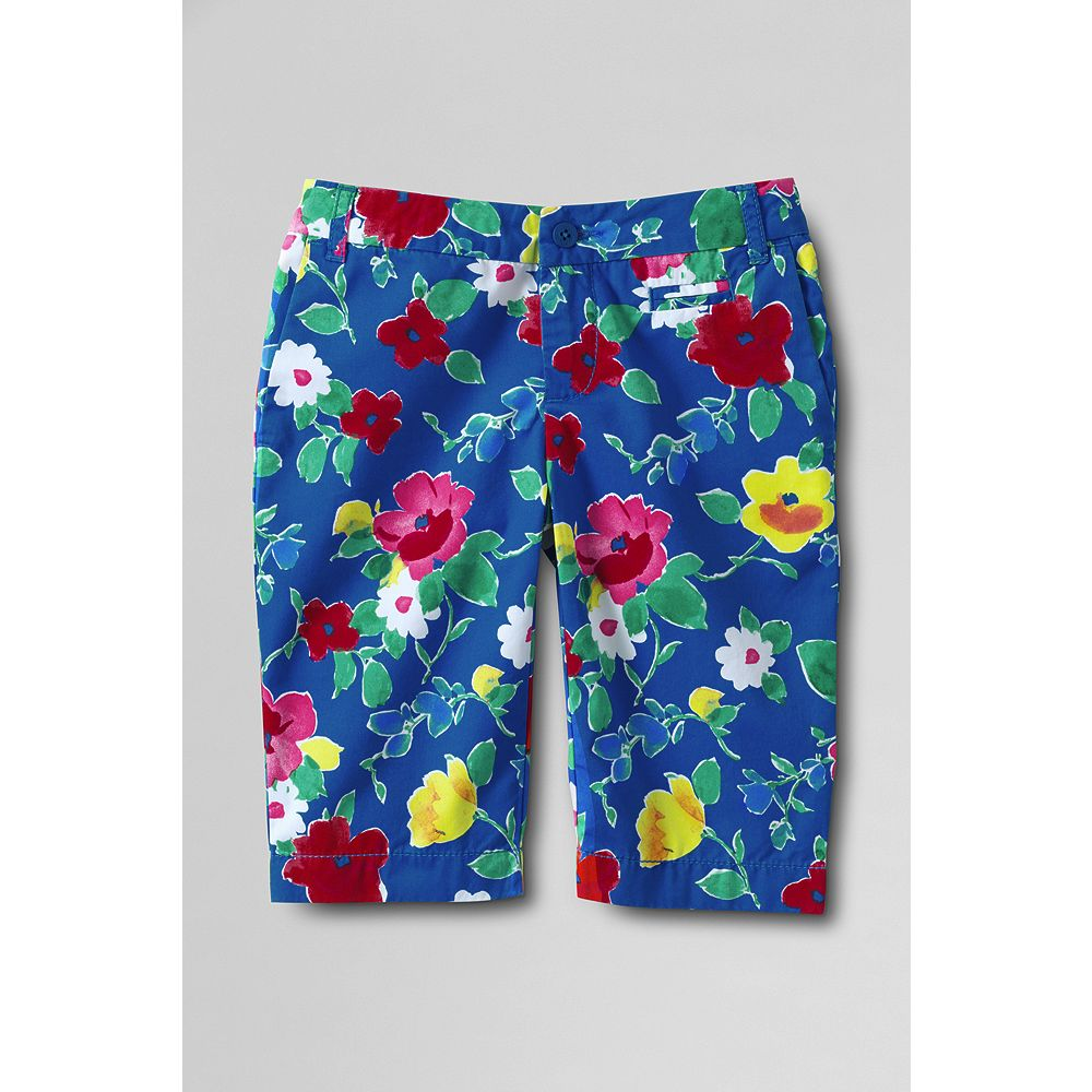 Lands' End Little Girls' Print Bermuda Shorts at Sears.com