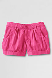 Girls' Cuffed Woven Gathered Shorts