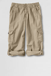 Girls' Cargo Pocket Roll-up Pants