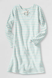 Girls' Long Sleeve French Terry Sailor Dress