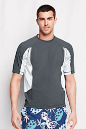 Men's Short Sleeve Colorblock Rash Guard