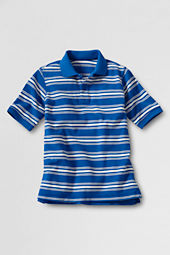 Boys' Short Sleeve Stripe Mesh Polo Shirt