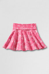 Girls' Fold-over Waistband Cotton Skort