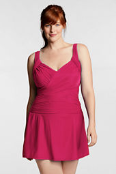 Women's Plus Size Slender Sweetheart Swimdress
