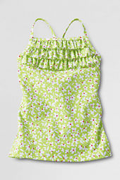 Girls' Ruffle Front Adjustable Tankini Top