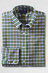 Men's Tailored Fit No Iron Pattern Supima Oxford Dress Shirt