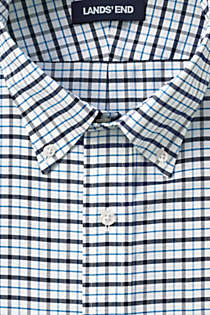 Men's Big & Tall Traditional Fit Pattern No Iron Supima Oxford Dress Shirt, Unknown