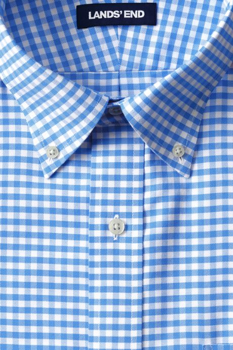 Men's Big & Tall Traditional Fit Pattern No Iron Supima Oxford Dress Shirt
