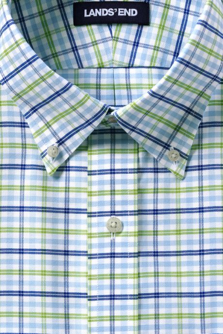 Men's Tailored Fit Pattern No Iron Supima Oxford Dress Shirt