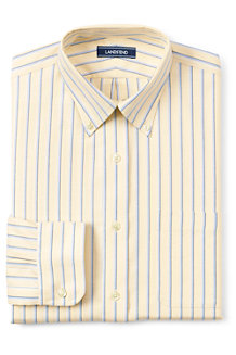 Men's Patterned Traditional Fit Easy-iron Button-down Supima Oxford Shirt