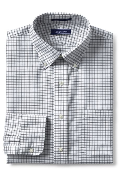 Men's Tailored Fit Pattern No Iron Supima Oxford Dress Shirt