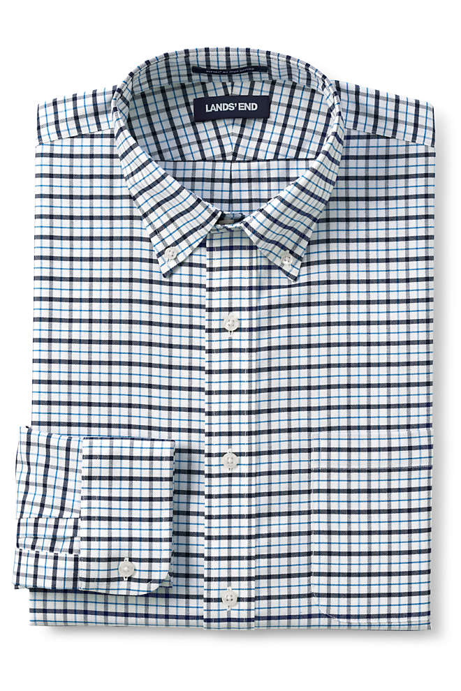 Men's Big & Tall Traditional Fit Pattern No Iron Supima Oxford Dress Shirt, Front