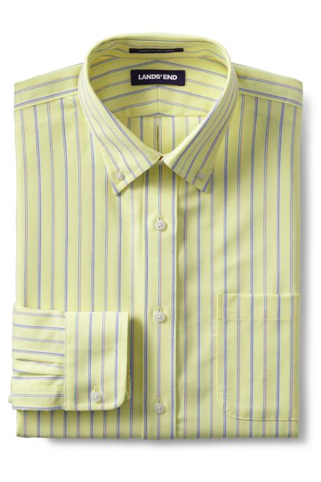Men's Tailored Fit Pattern Supima No Iron Oxford