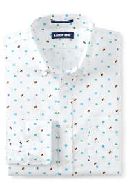 Men's Big & Tall Traditional Fit Pattern No Iron Supima Oxford Dress Shirt