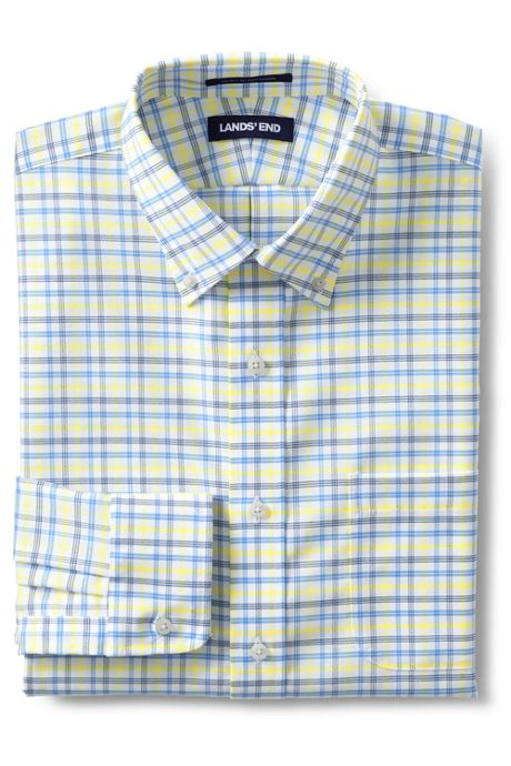 Men's Traditional Fit Pattern No Iron Supima Oxford Dress Shirt
